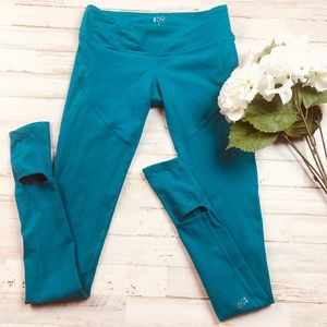 Splits 59 Tendu Grip Stirrup Tights Teal Green
